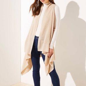 LOFT Drapey Knit Vest - One Size